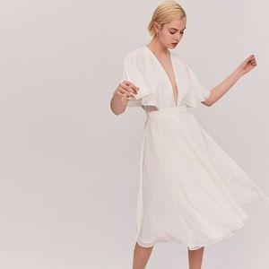 NWT Fame and Partners Sylvan Swiss Dot Wrap Dress